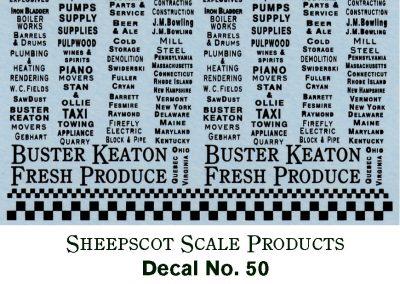 Sheepscot Scale Decals