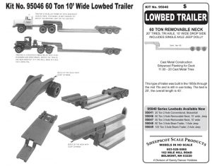KIT NO 95046 LOW BED TRAILER