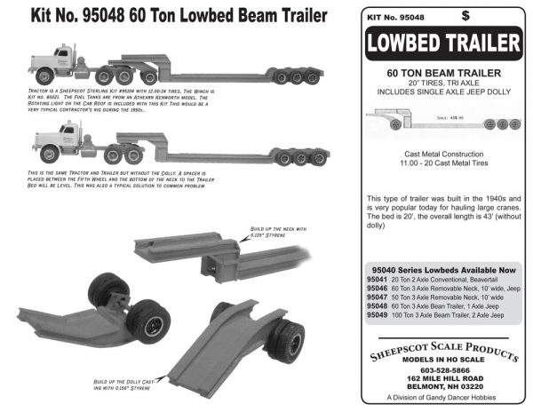 KIT NO 95048 LOW BED TRAILER